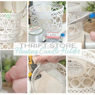 Thrift Store Floating Candle Holders
