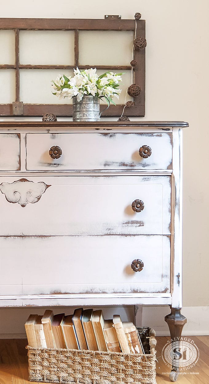 Pink Farmhouse Dresser Half View