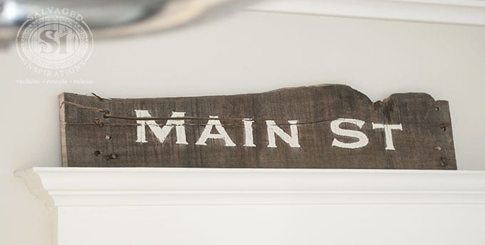 Rustic Main St Pallet Board Sign
