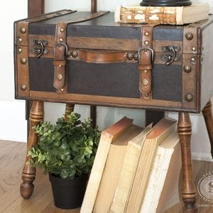 Salvaged Trunk with DIY Angled Legs