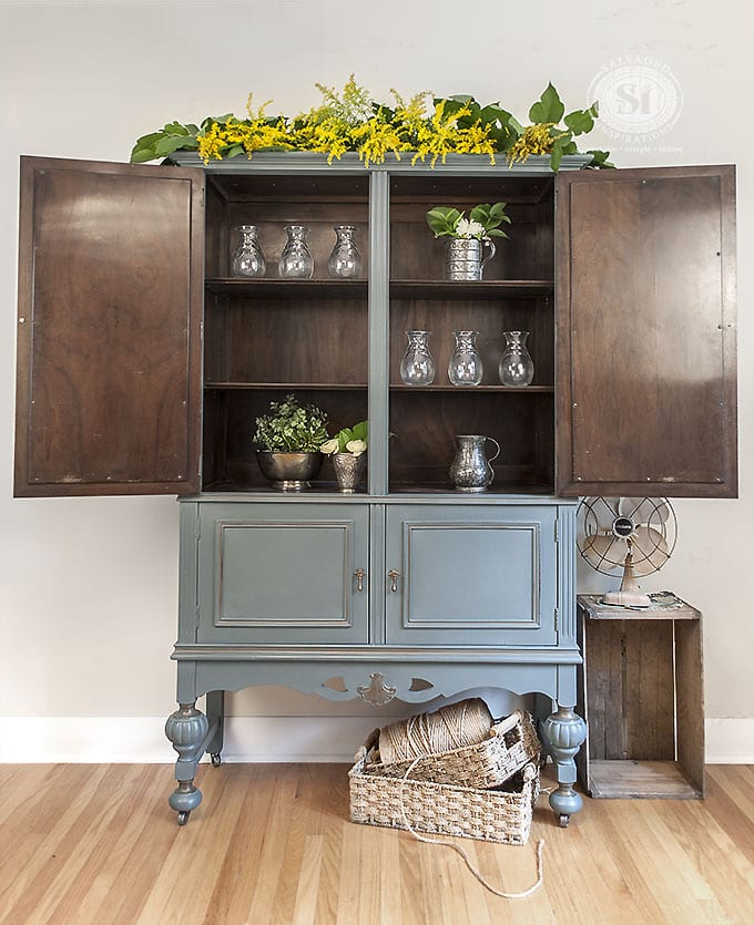 Inside Painted Cabinet -MDGiveaway