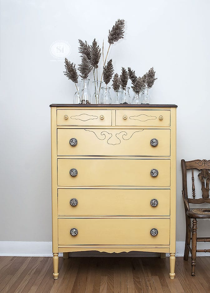 mustard-seed-yellow-milk-painted-dresser