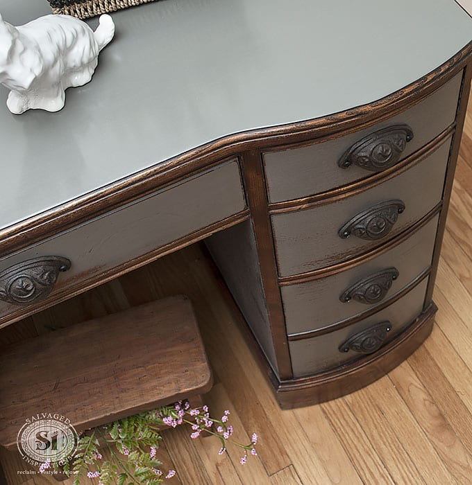 top of no sand desk no sanding furniture. How To Paint Furniture WITHOUT Sanding    Salvaged Inspirations