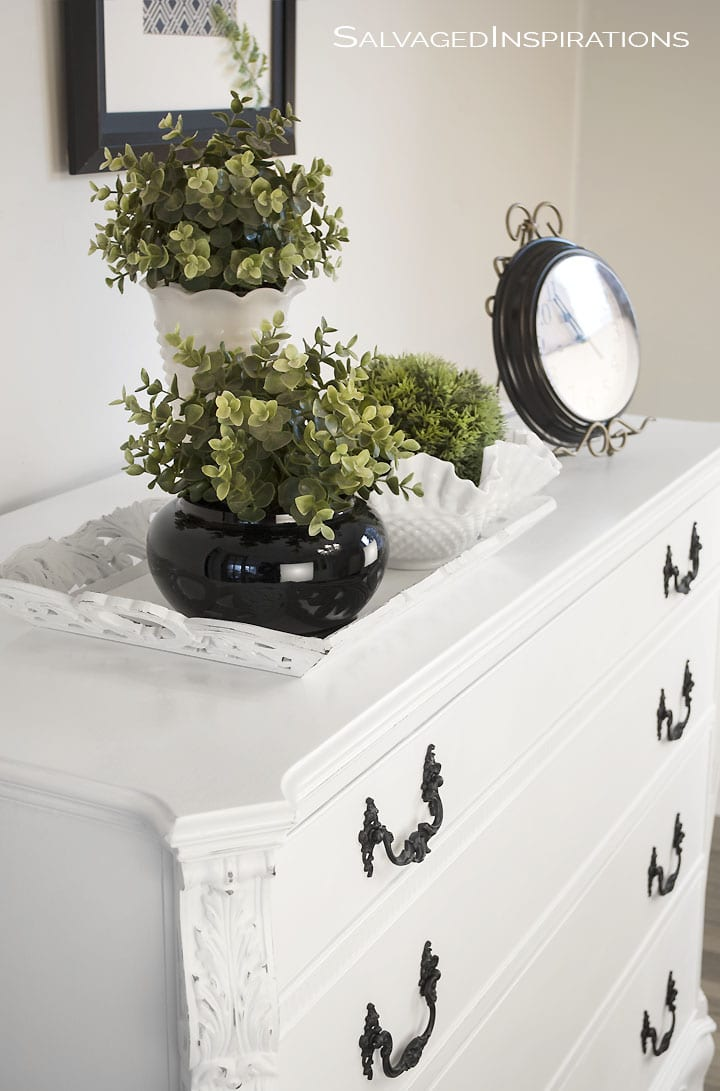 Annie Sloan Pure White Chalk Painted Buffet