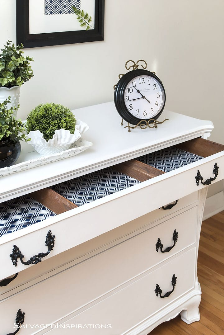 AnnieSloan Pure White French Buffet Makeover