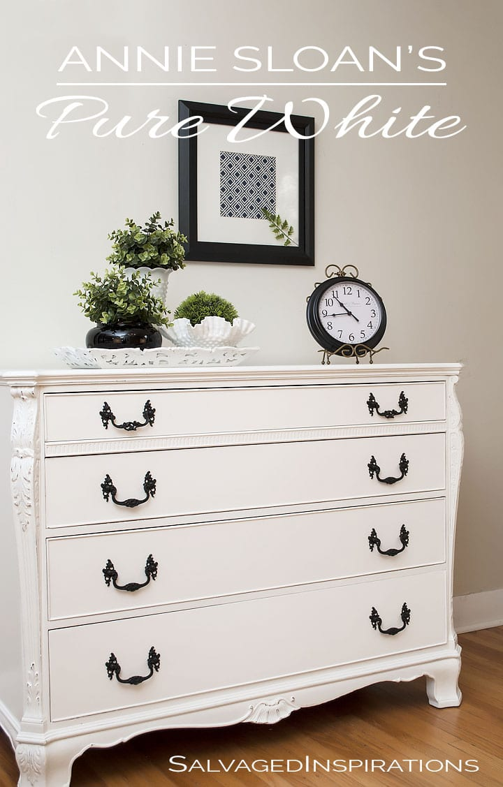 Chalk Painted French Buffet in Pure White