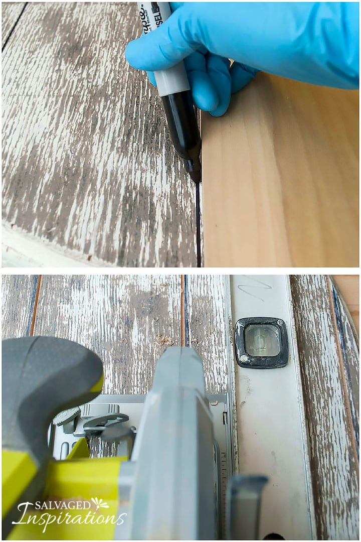 diy faux barn wood salvaged spool table makeover