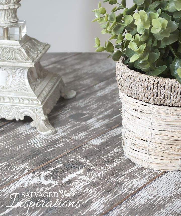 DIY Barn Wood Spool Table