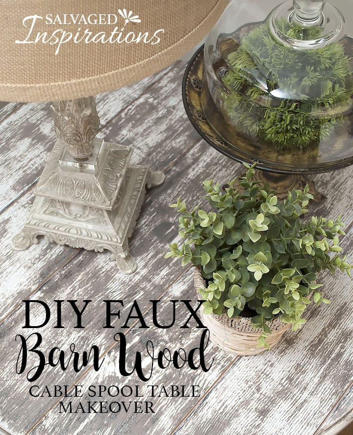 Faux Barnwood Spool Table Top