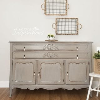 Annie Sloan French Linen Painted Thrift Buffet