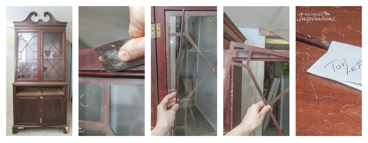 5 Steps To Remove Fretwork from China Cabinet
