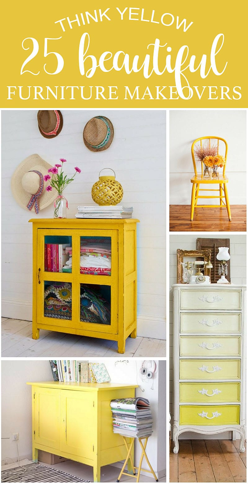 Think YELLOW - 25 Beautiful Furniture MakeOvers-SI Blog
