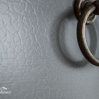 Close Up of Alligator Textured Finish on Painted Dresser