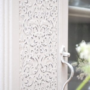 How To Create Raised Stencil Designs | Goodwill Cabinet Makeover