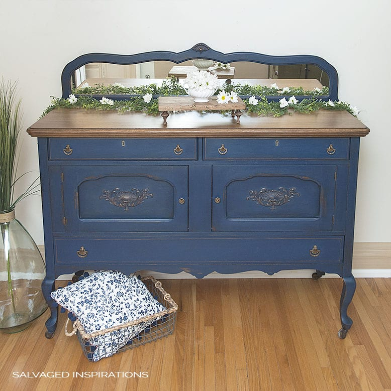 Salvaged Inspirations Bunker Blue Painted Buffet