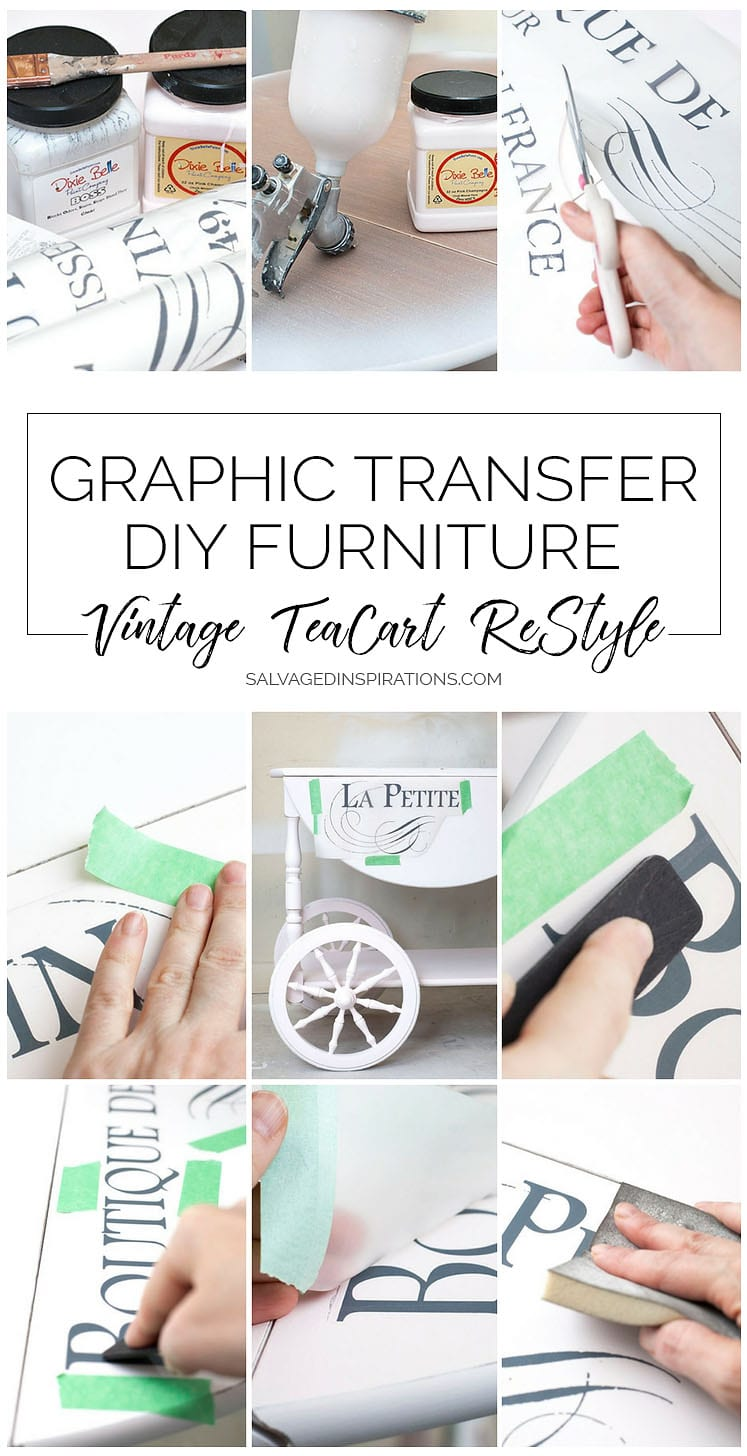 Graphic Transfer DIY Furniture - TeaCart ReStyle