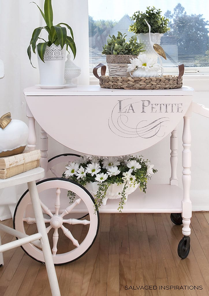 La Petite Graphic Vintage Tea Cart