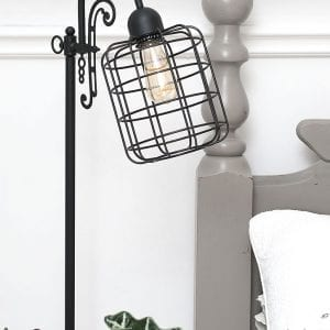 DIY Vintage Cage Light – Bedroom Makeover