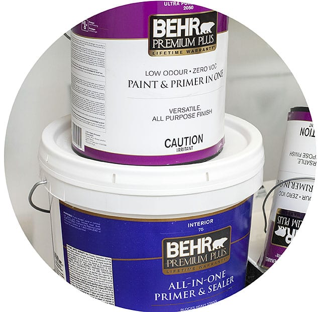 Behr Premium Plus Primer and Paint 4 Painted Over WallPaper