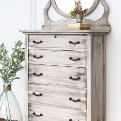 How To Create Weathered Wood With Paint - Restyled Dresser1