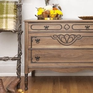 Elegant Raw Wood Dresser Makeover | How To Seal U0026 Protect