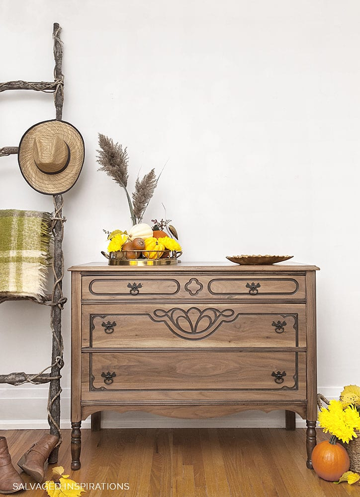Raw Wood Dresser Makeover - Salvaged Inspirations