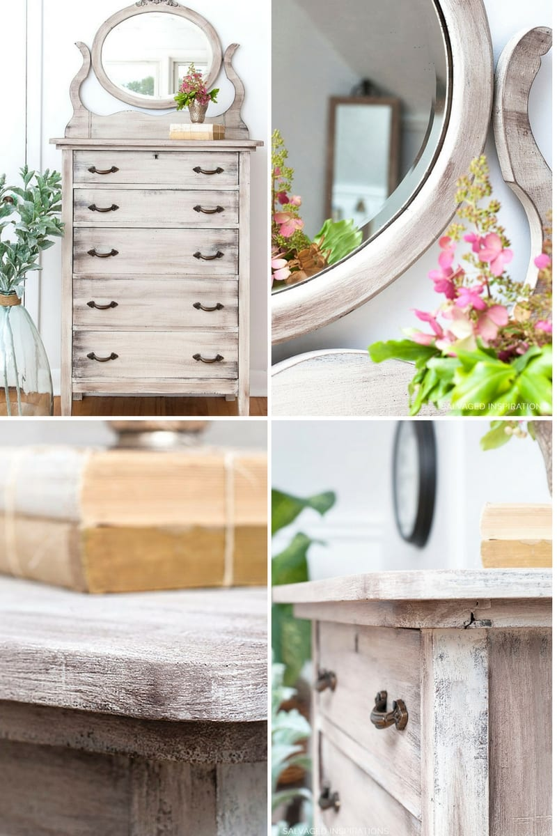 Salvaged Dresser ReStyle - Weathered Wood DIY