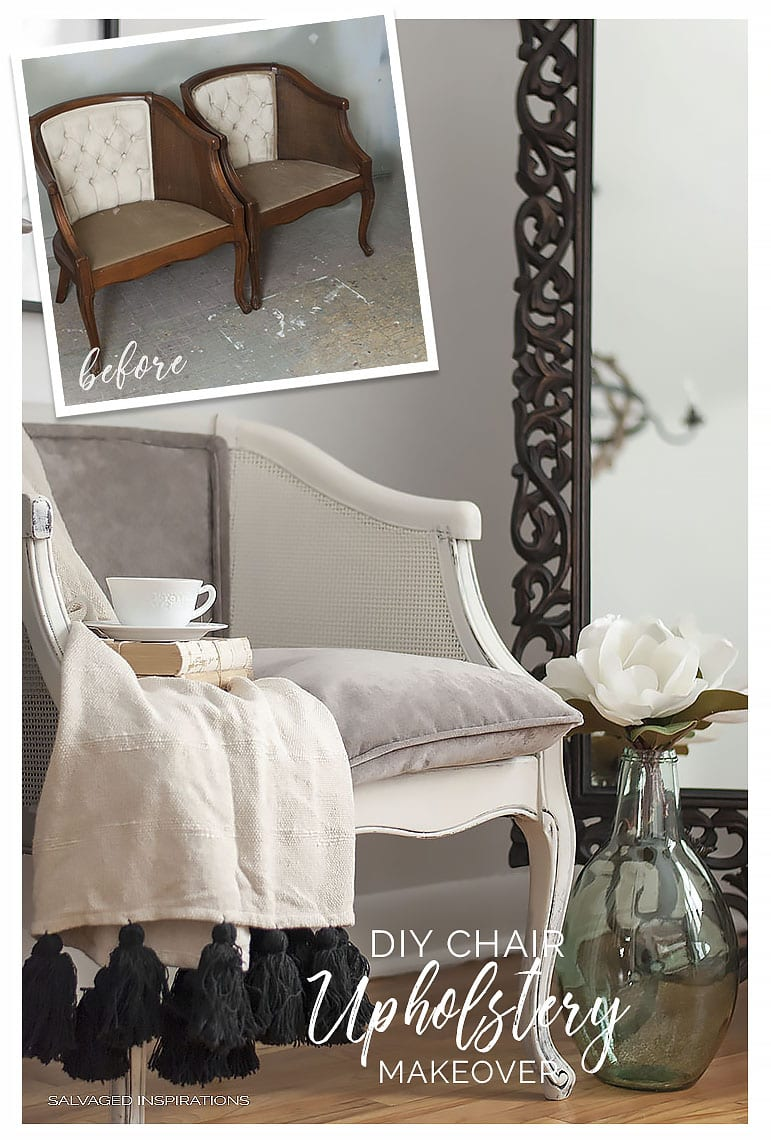 DIY UPHOLSTERY MAKEOVER BEFORE & AFTER