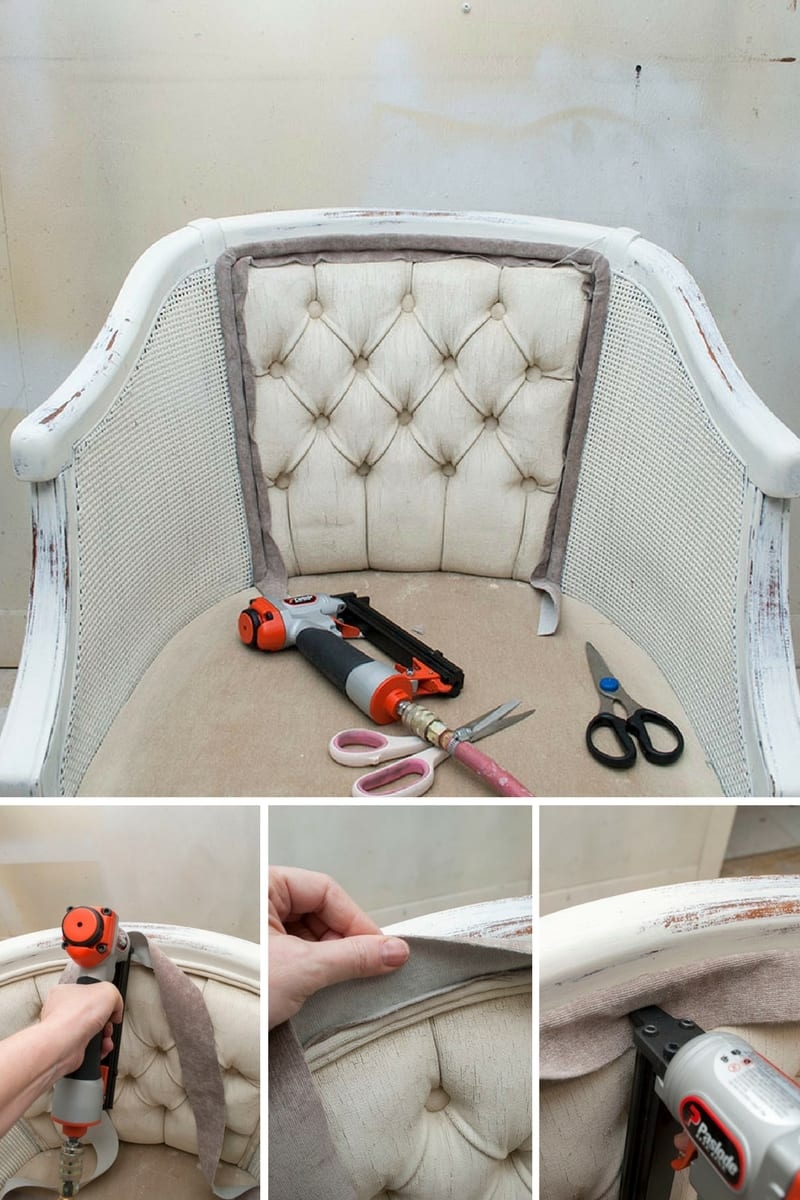 DIY Chair Upholstery ~ 7 Shortcuts & Tips - Salvaged ...
