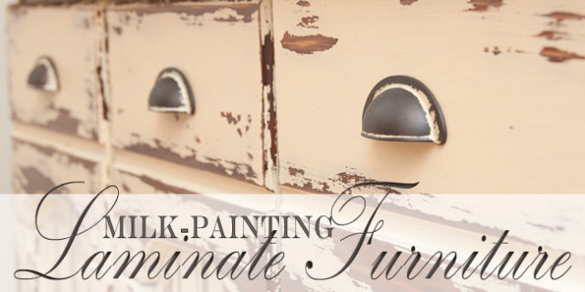 Milk Paint Laminate Furniture ~ Country Farmhouse Hutch