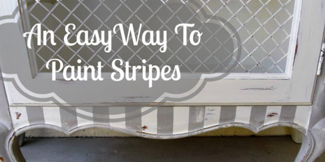 Quick-Tip-Tuesday ~ An Easy Way to Paint Stripes On Your Furniture