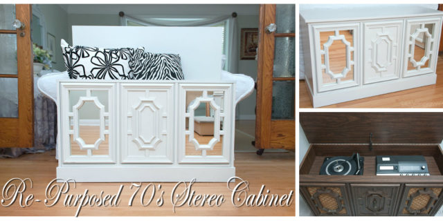 A Re-Purposed 70′s Stereo Cabinet & Sweet's Ballroom Blitz