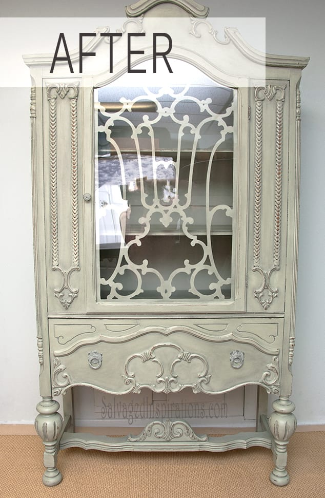 custom china small hutch painted world pin cabinet a chalk and
