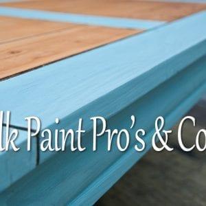 Milk Paint Pro's & Con's