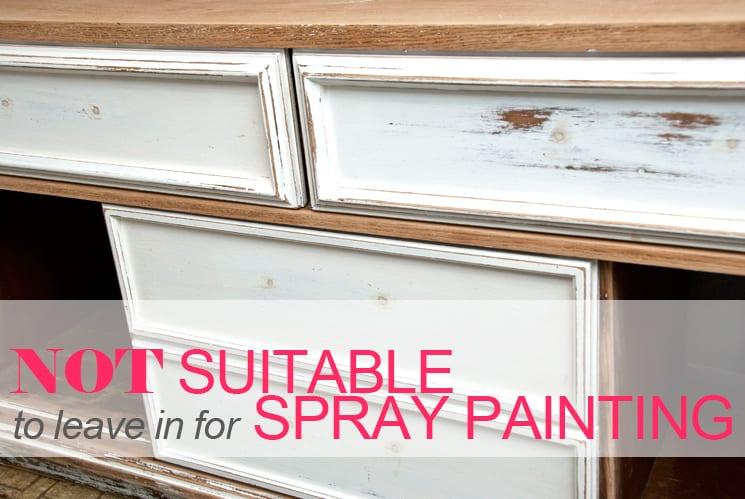 spray painting drawers