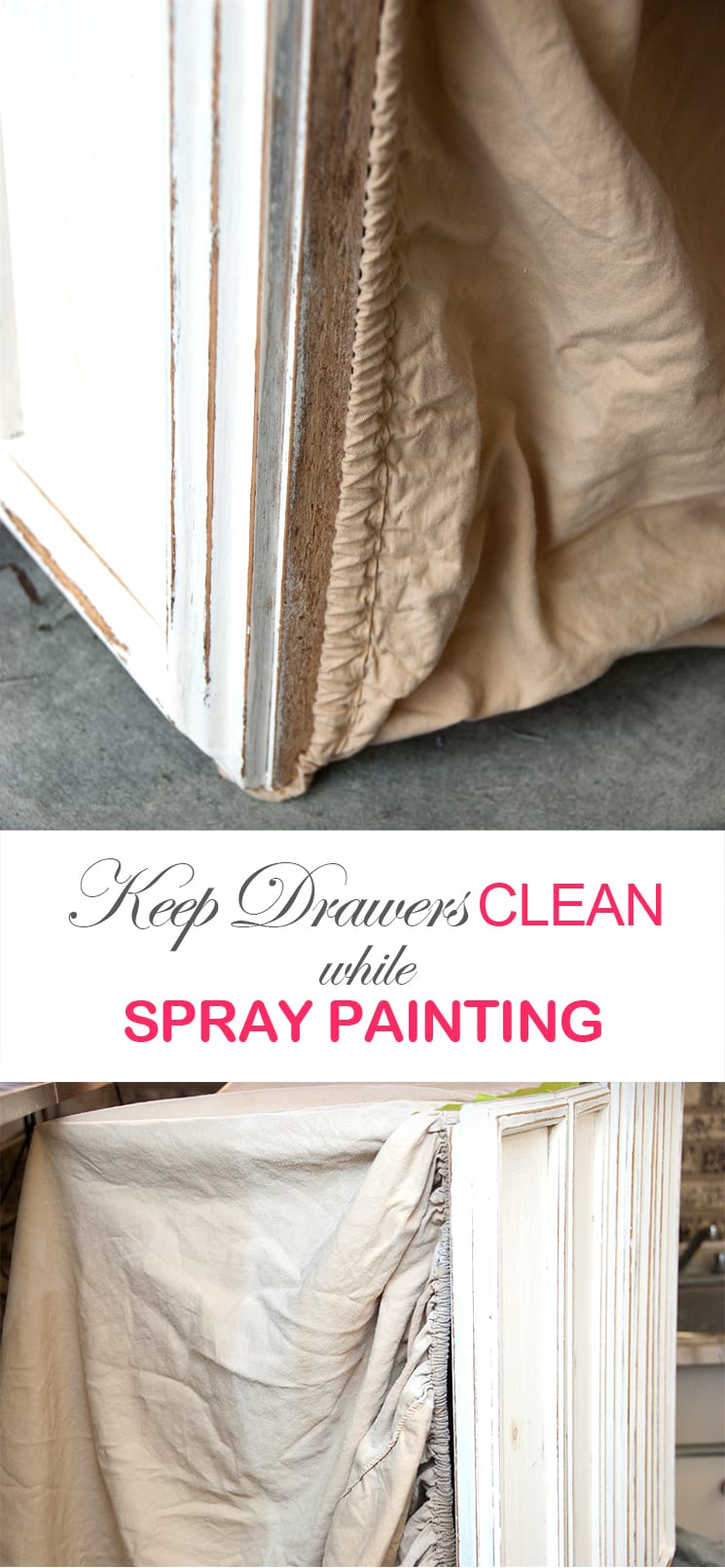 Keep Drawers Clean while Spay Painting