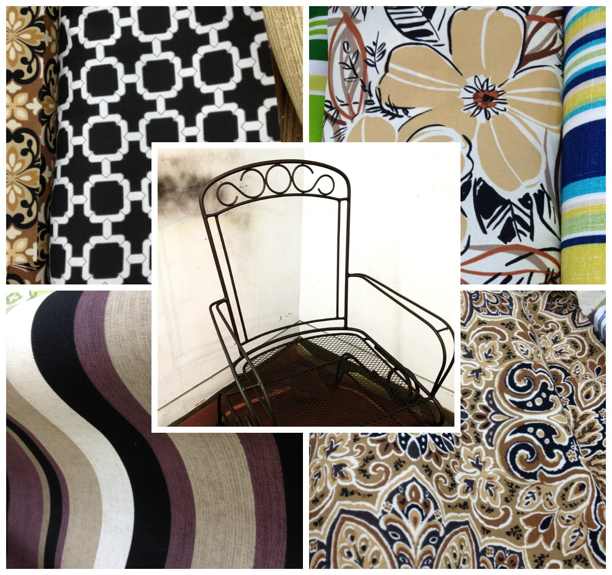 wrought iron chair fabric