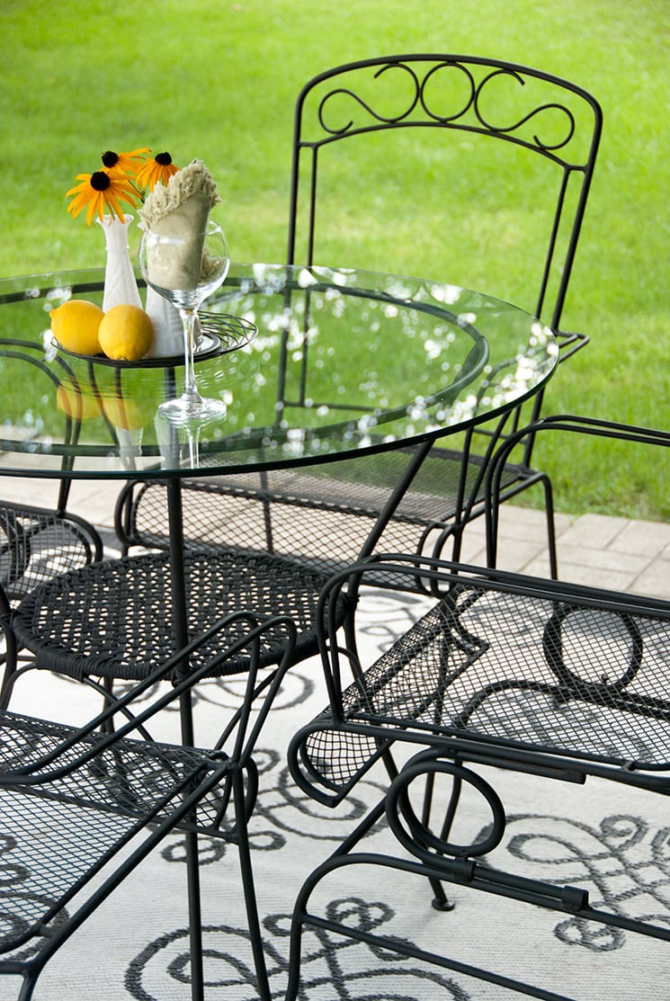 Cast Iron Patio Set-after