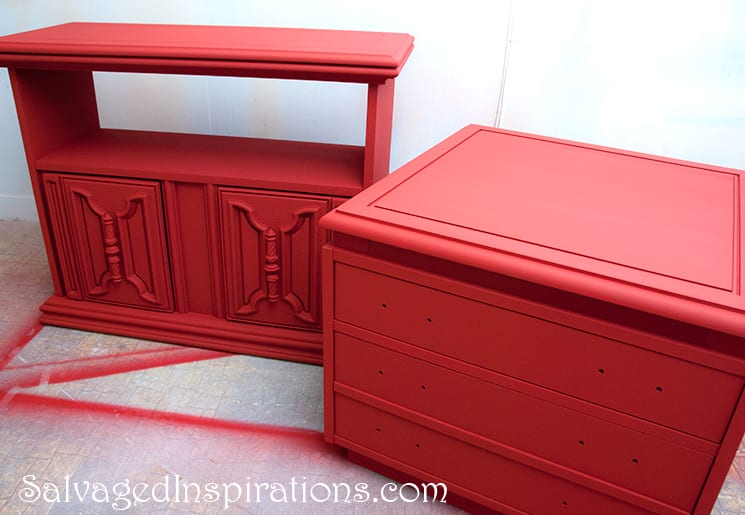 Spray Painted Annie Sloan Furniture