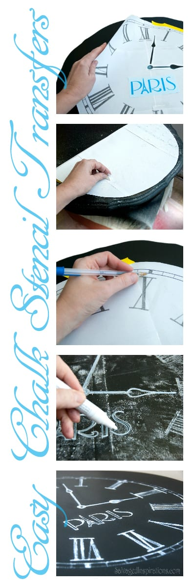 Easy Chalk Stencil Transfers