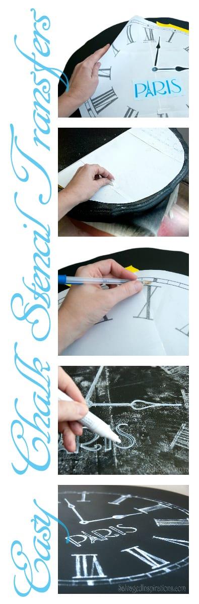 Easy Chalk Stencil Transfers