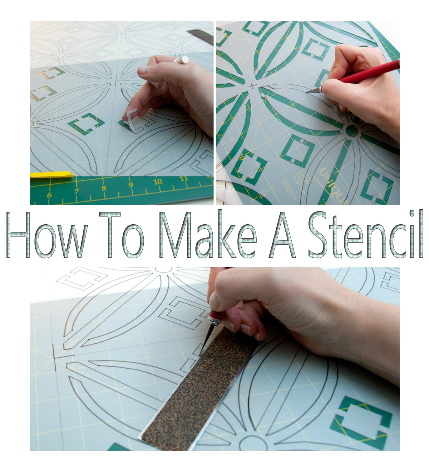 How to Make a Stencil   No Costly Gadgets Required