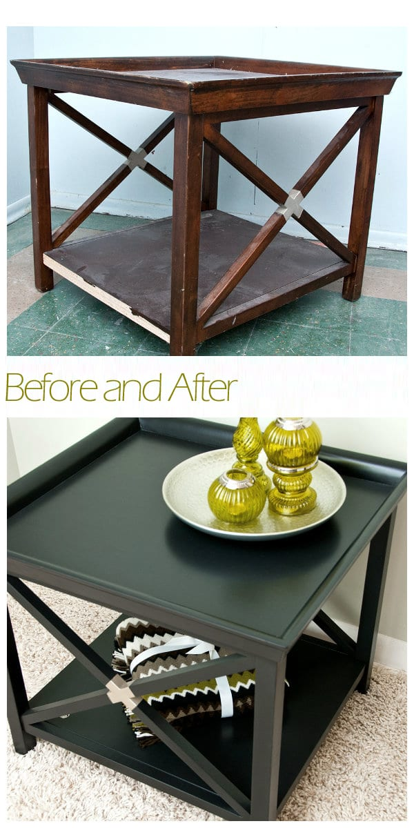 Painted Table w Edge Banding Before&After
