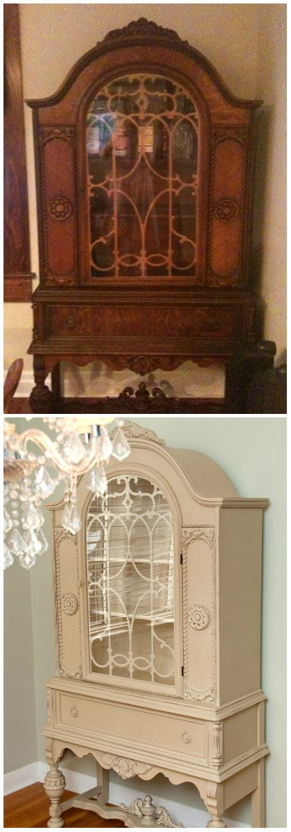 Before U0026 After China Cabinet Painted W Annie Sloans Chalk Paint