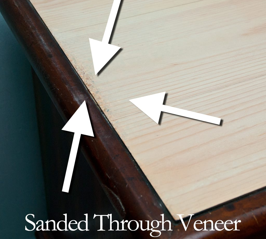 Sanded Through Veneer