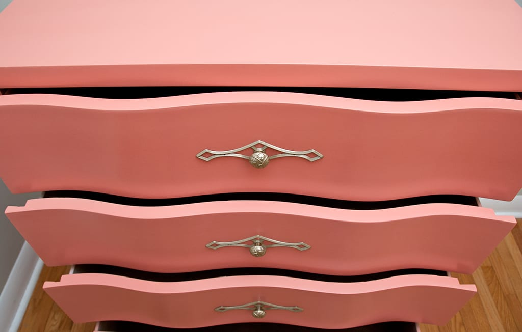 Getting Braver ~ Curvy Coral Dresser