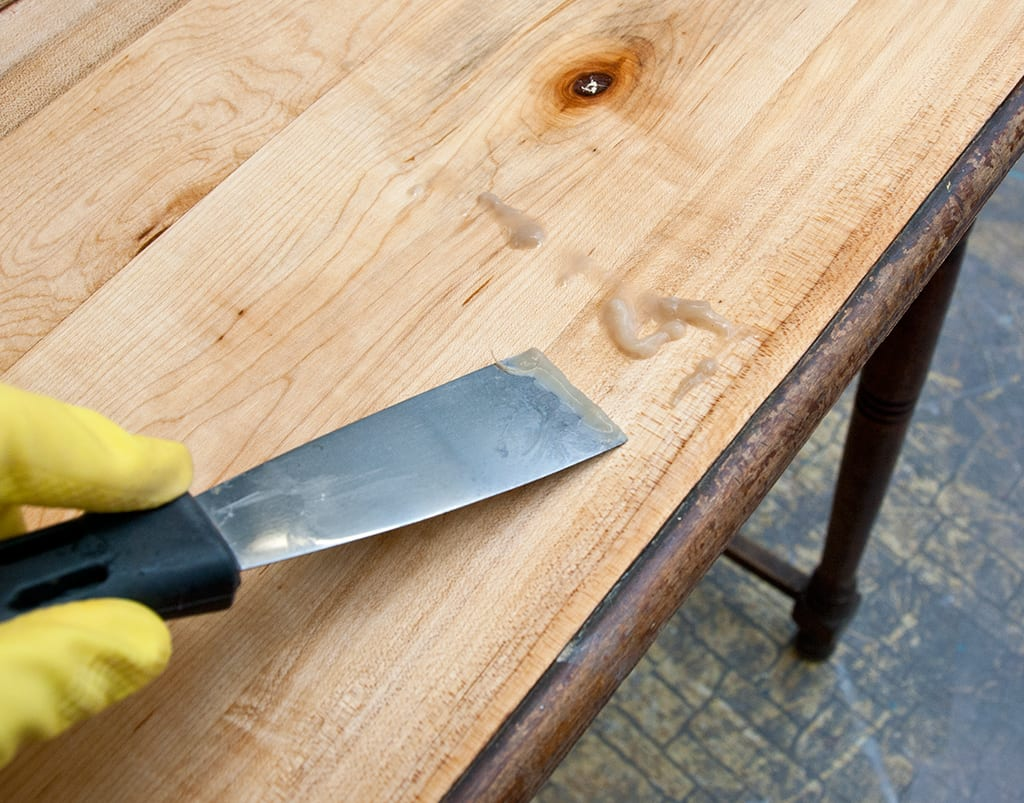 How To Get Sticky Residue Off Wood Table Brokeasshome Com