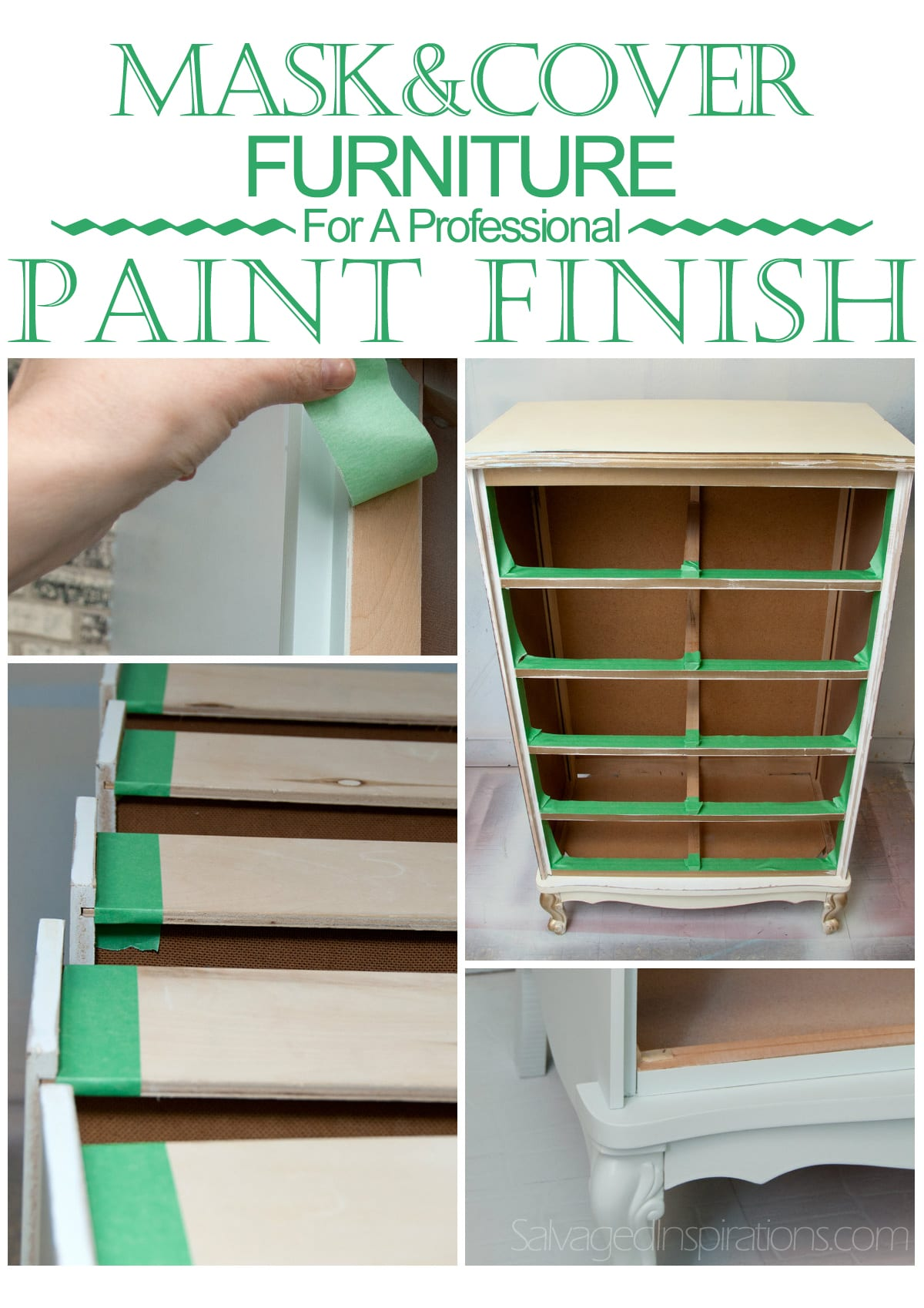 Quick-Tip-Tuesday ~ Mask For Clean & Professional Looking Painted Furniture