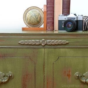 Antique-MilkPainted-Radio-Cabinet