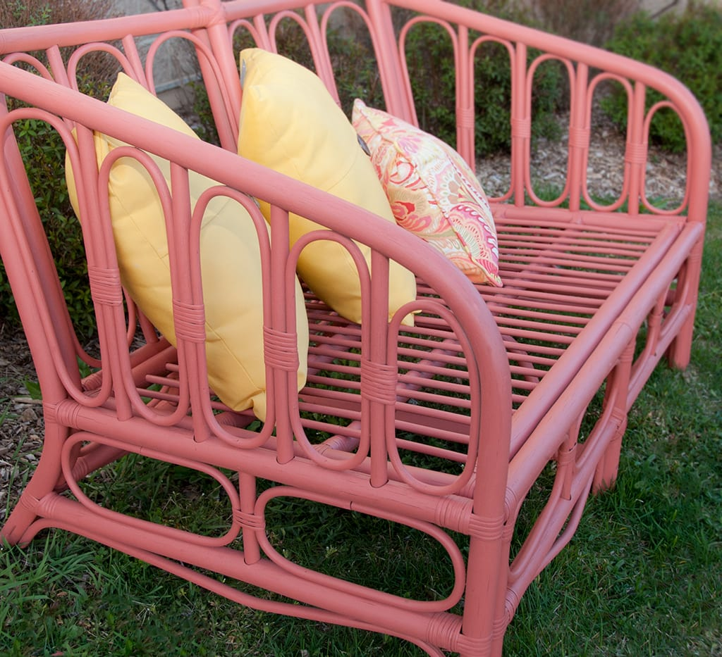 Painting Outdoor Furniture With Chalk/Mineral Paint….My Island Coral